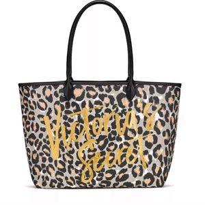 NWT Victorias Secret Leopard Print Tote